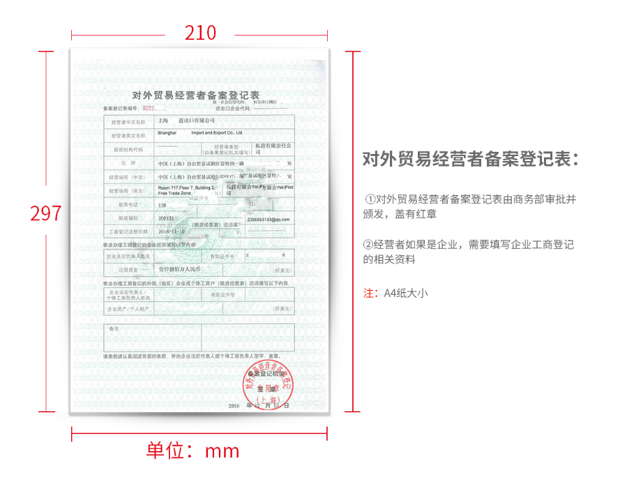 进出口经营权许可证